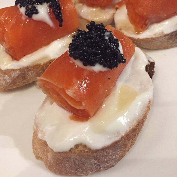Salmon With Goat Cheese Caviar Honey Truffle