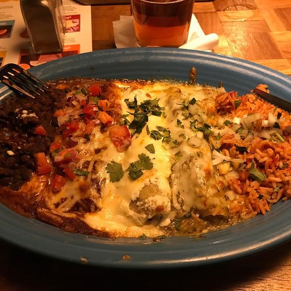 Mexican Flag Enchilada Combo @ Margaritas Mexican Restaurant