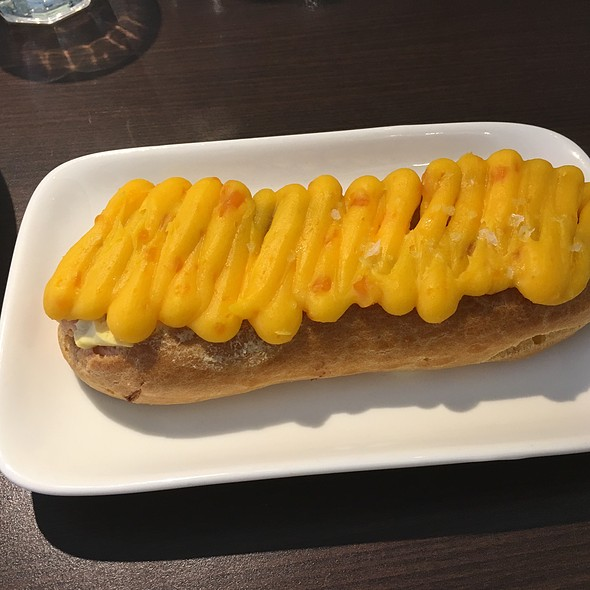 Salted Egg Eclair @ Dotty's Cafe