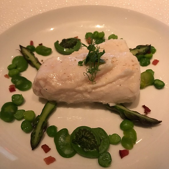 Halibut With Fava And Aparagus