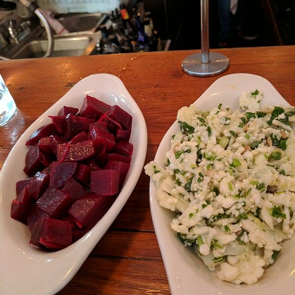 Sides Beets and cauliflower