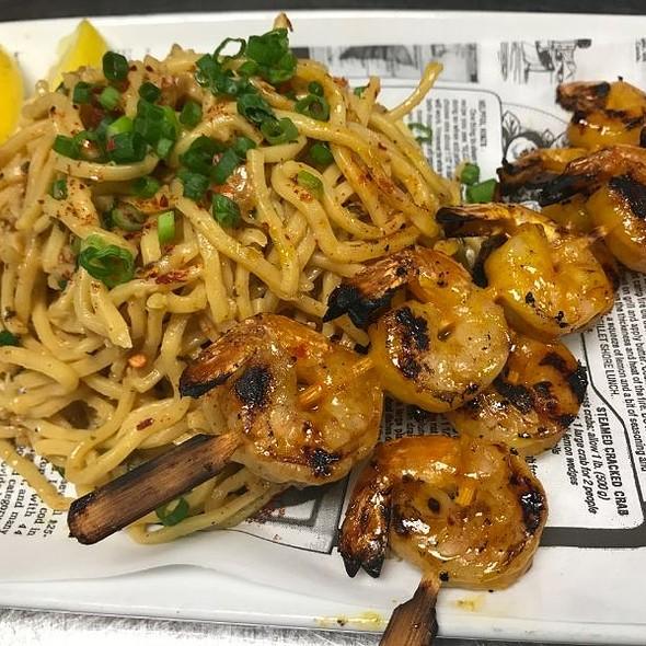 Garlic Noodles And MANGO Shrimp