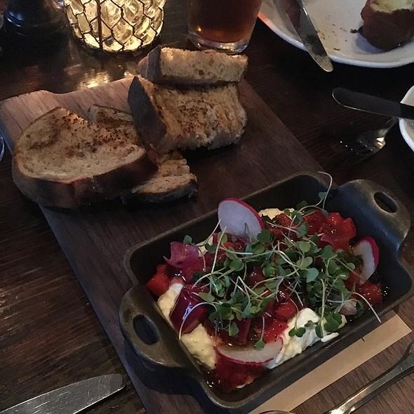 Burrata W/ Strawberry Rhubarb Compote @ Wayfare Tavern