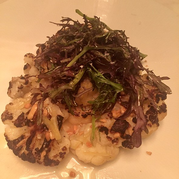 Cauliflower Steak With Pine Nuts And Preserved Lemon