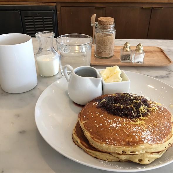 ricotta pancakes @ Ostrich Farm