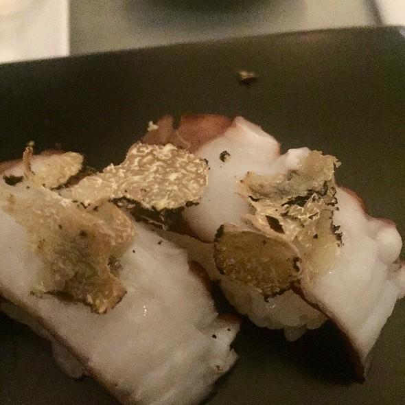 Tako (Octopus) Nigiri With Truffle Sauce
