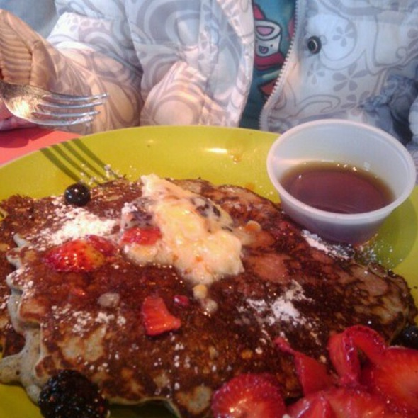 Blue Corn Pancakes With Pinon Butter @ Sophia's Place