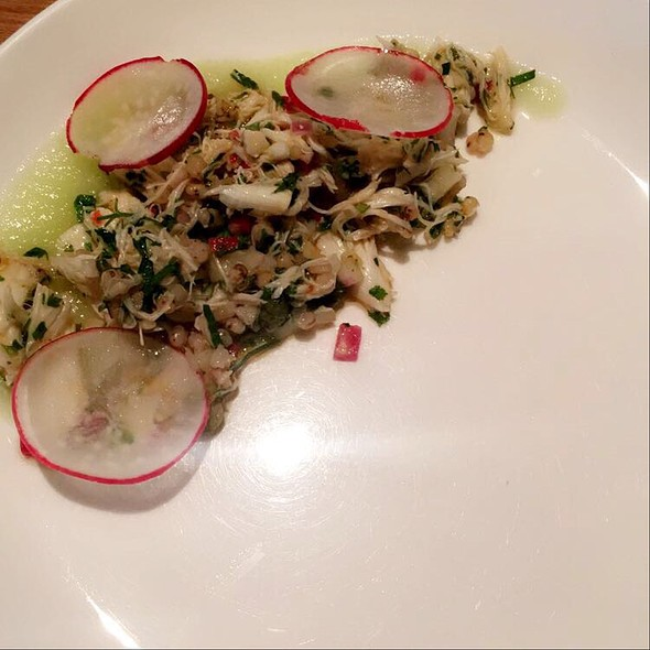Crab Salad With Honeydew Emulsion