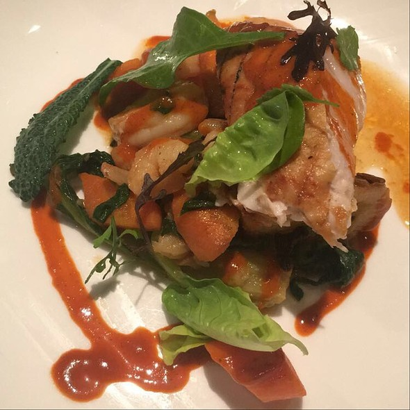 Swordfish And Shrimp With Kimchi Sauce