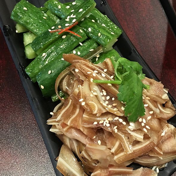 Pickled Cucumbers And Pig Ears @ ShangPin beef noodle house