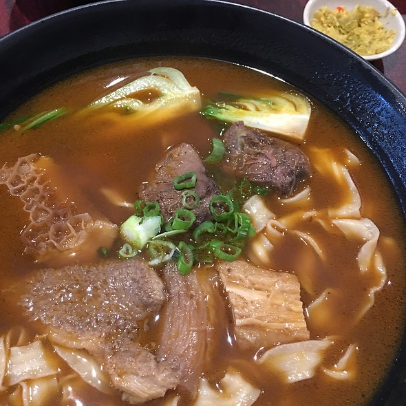 Beef Tendon, Beef Brisket And Beef Tripe Thick Noodle Soup @ ShangPin beef noodle house