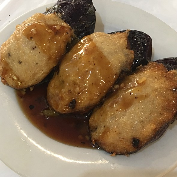 Egg Plant Stuffed With Spicy Shrimp Paste @ King's Chinese Cuisine