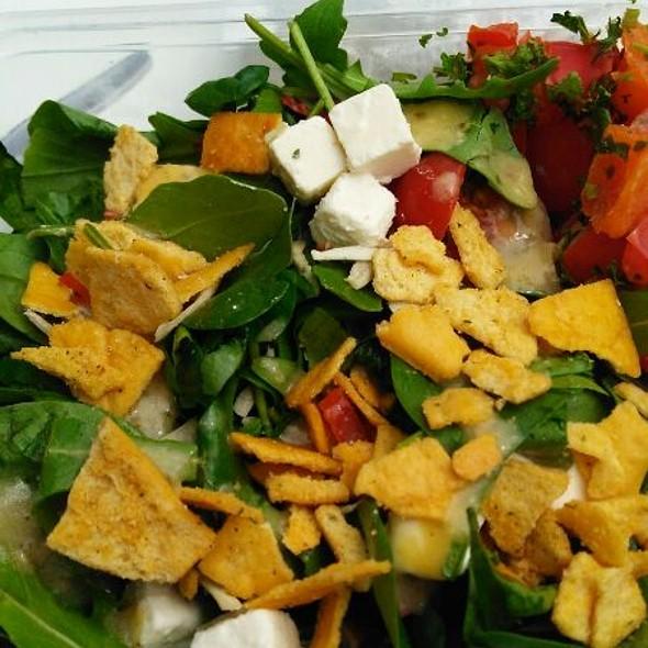 Nachos Goat Cheese And Hummus Salad