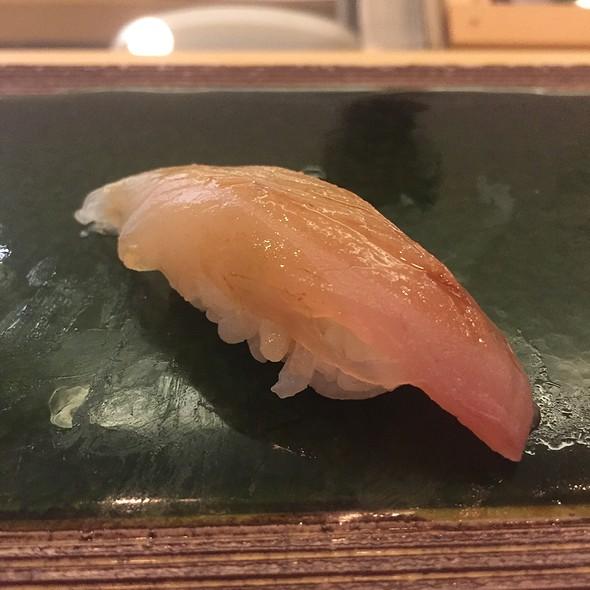 Japanese Shioko (Baby Premium Yellowtail) Nigiri