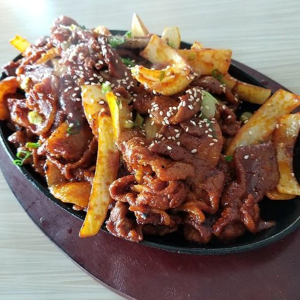 spicy pork @ Cham Sae Bistro