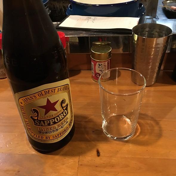 サッポロ瓶ビール @ やきとん屋善