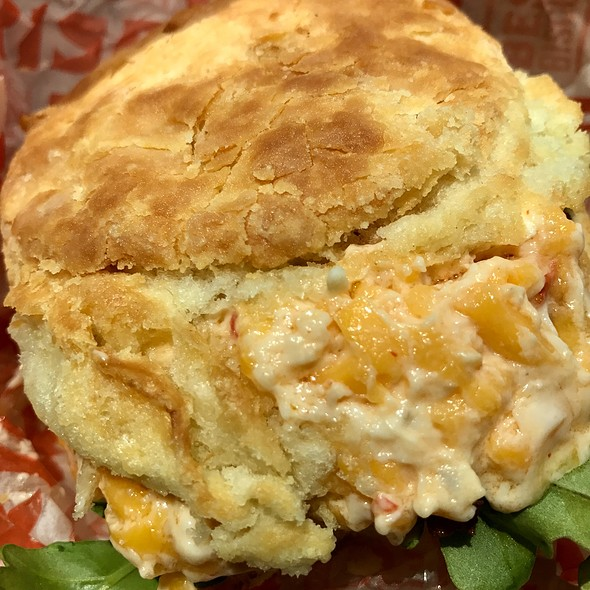 Fried Green Tomato & Pimento Cheese Biscuit