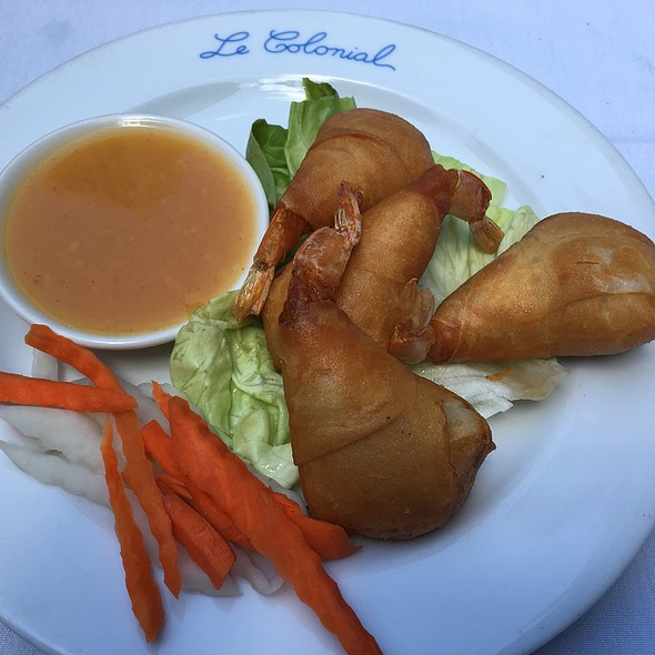 Tom Cuon Ram (Vietnamese Shrimp Beignets) @ Le Colonial Chicago