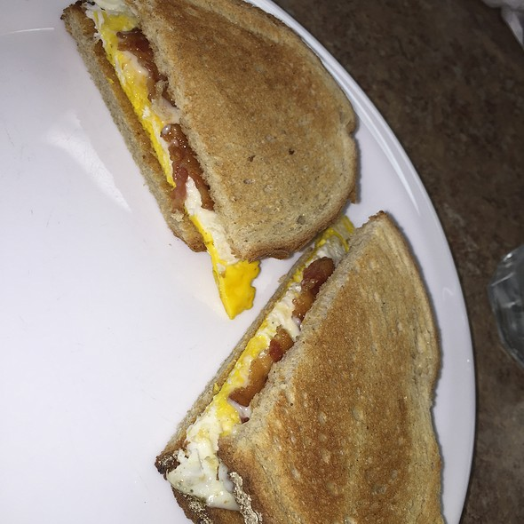 Bacon Egg And Cheese Sandwich On Rye Bread
