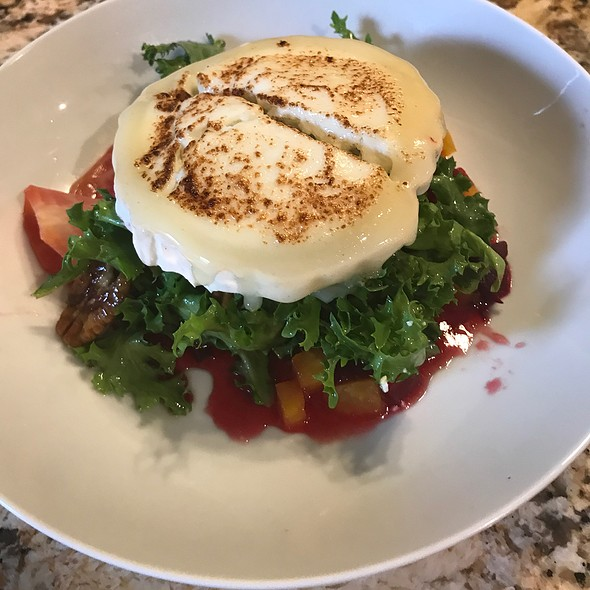 Curly Enduve Salad With Brulee Goat Cheese And Roasted Beets