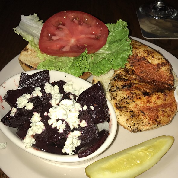 Chicken Sandwich With Beets & Bleu Cheese