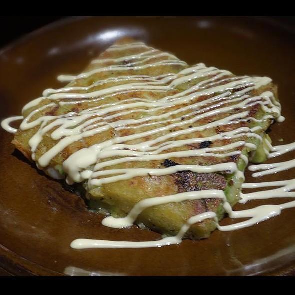 Avocado and Shrimp Korean Pancake with Mayo