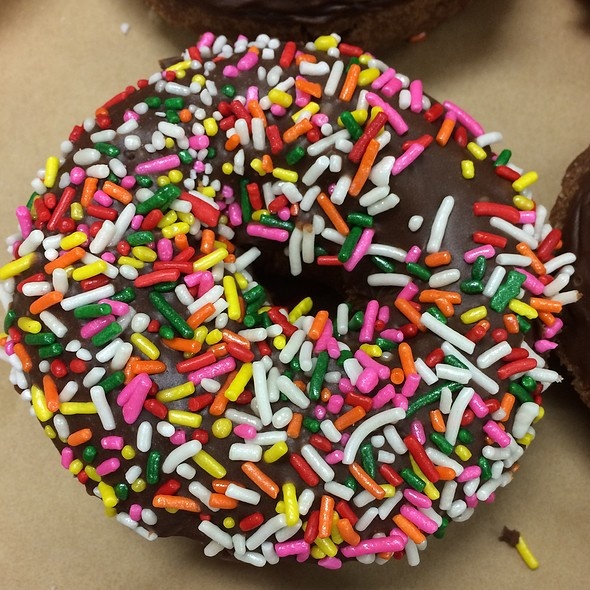 Chocolate Rainbow Sprinkle Cake Donut @ Donut King