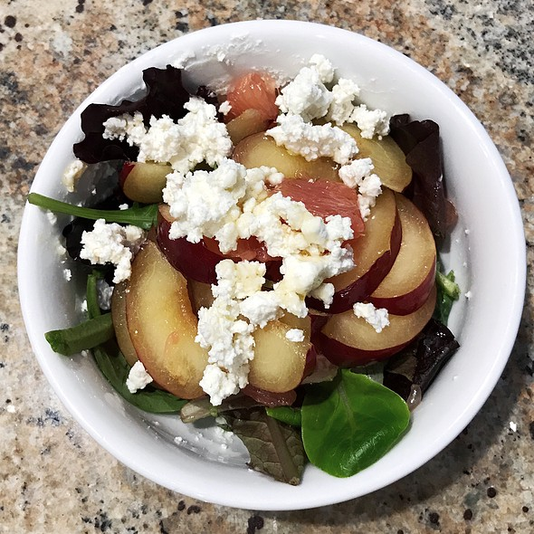 Plum & Honey Goat Cheese Salad @ Home