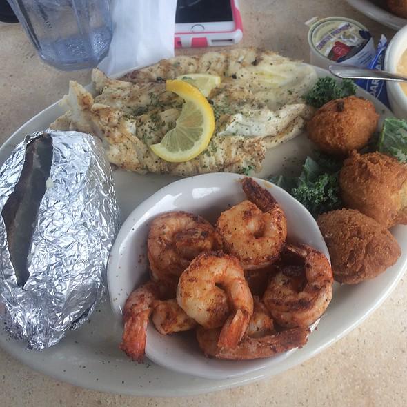 Tilapia And Shrimp Platter @ Corky Bell's Seafood-Palatka