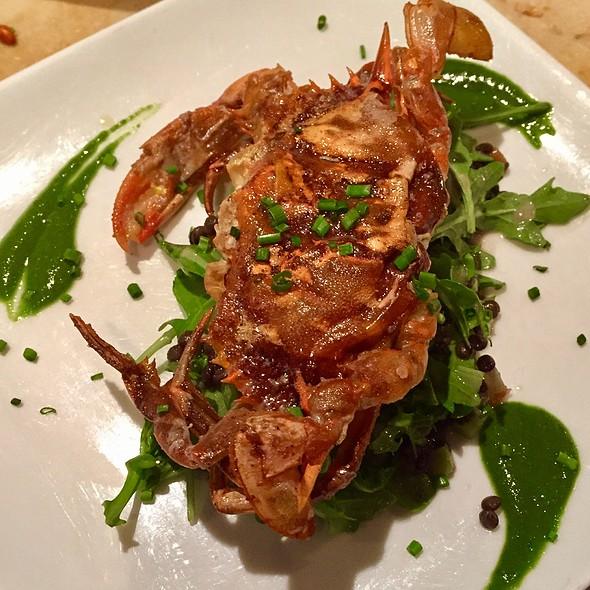Soft Shell Crab, Arugula, Lentils