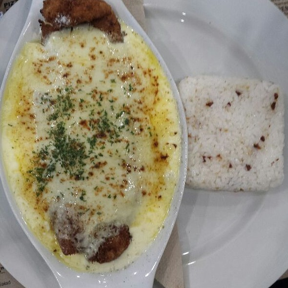Parmesan Crusted Fish Fillet With Rice
