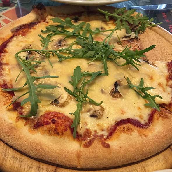 Parmesan And Funghi Pizza @ Gazi College