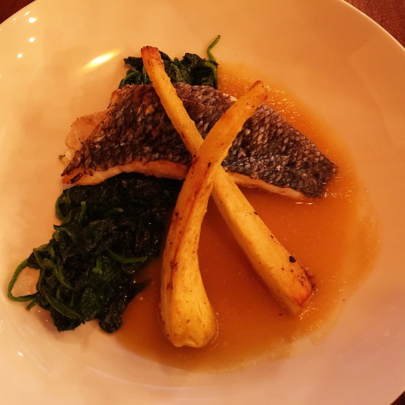 Black Sea Bass with Vegetables @ Boutros