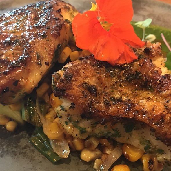 Poblano Grilled Rockfish @ Three Degrees Waterfront Bar & Grill