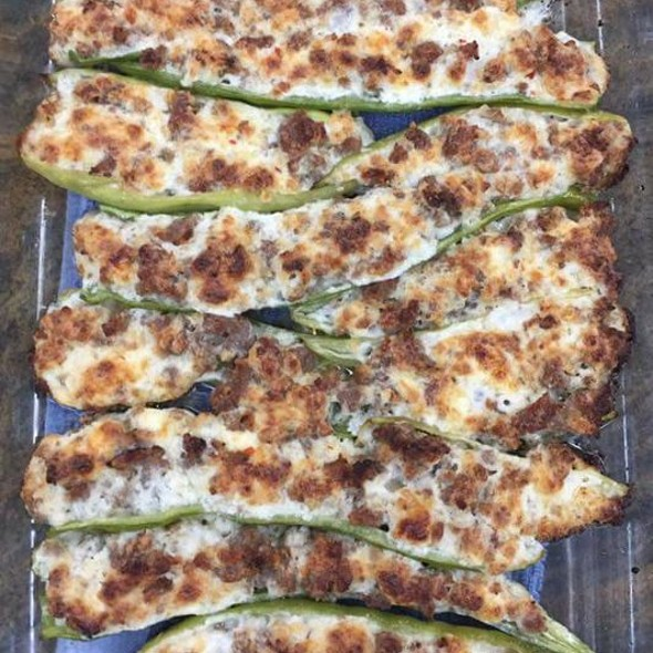 Early Summer Home Grown Grilled Cayenne Pepper Poppers