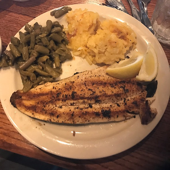 Lemon Pepper Rainbow Trout With Green Beans And Hash Brown Casserole