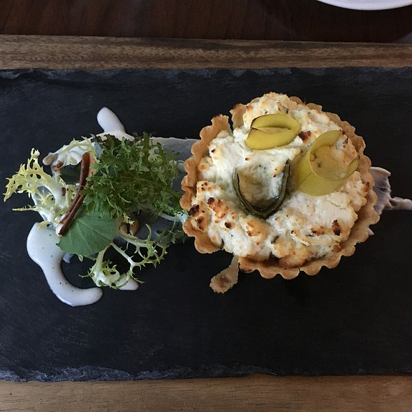 Goats Cheese Tartlet With Apple & Prunes