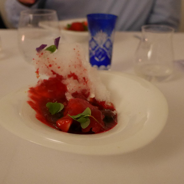 Coconut Panna cotta, Red Berries