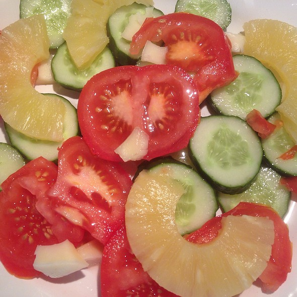 Vegetables And Tropical Fruits Salad
