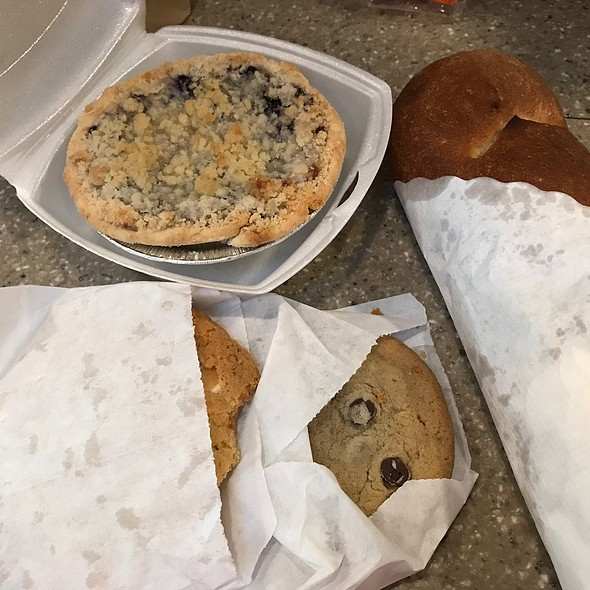 Bread, Cookies And Blueberry Peach Pie