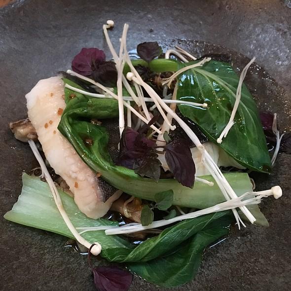 Steamed Local Black Cod, Enokis, Sprouted Bean & Lentils, Sweet Onion-Dashi Vinaigrette