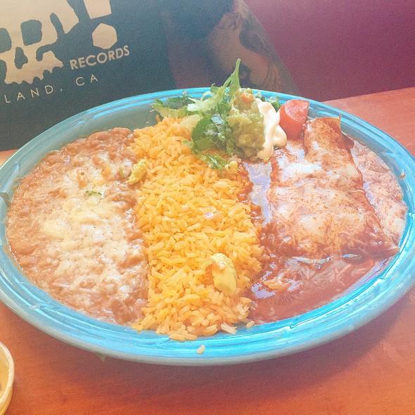 Cheese Enchilada Combination Plate @ Taqueria Maya