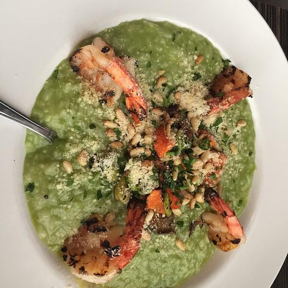 Green Garlic Risotto With Shrimp