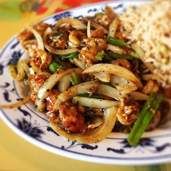Crawfish With Black Bean Sauce @ Royal China