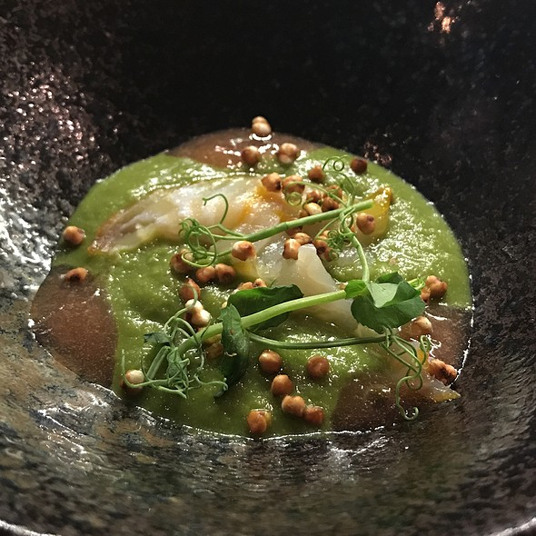 Pea Puree With Smoked Hadock And Buckwheat