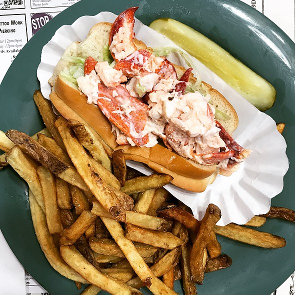 lobster roll @ Purple Cow House of Pancakes