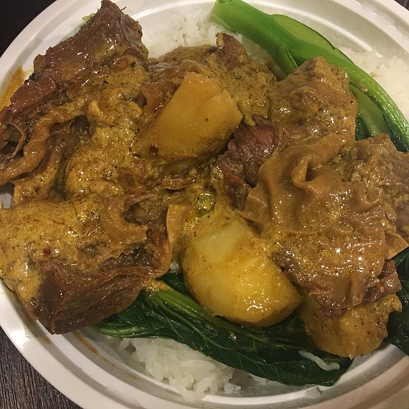 curry beef brisket on rice