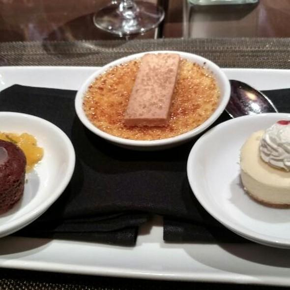 Chocolate Cake, Creme Brulee, Cheesecake