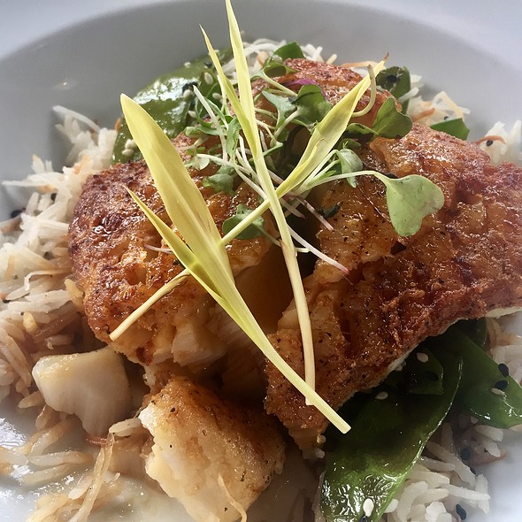 Ginger-Soy Glazed Atlantic Cod With Sesame-Roasted Sugar Snap Peas And Coconut Basmati Rice