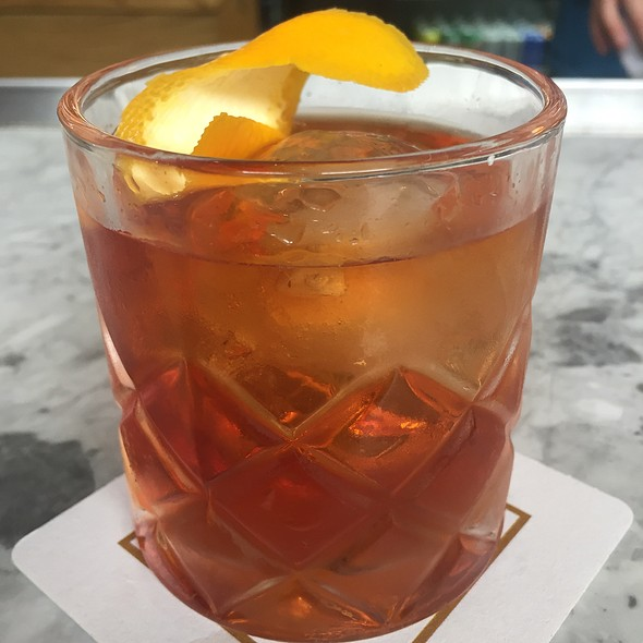 Old Fashioned Cocktail With Bourbon, Orange, And Bitters